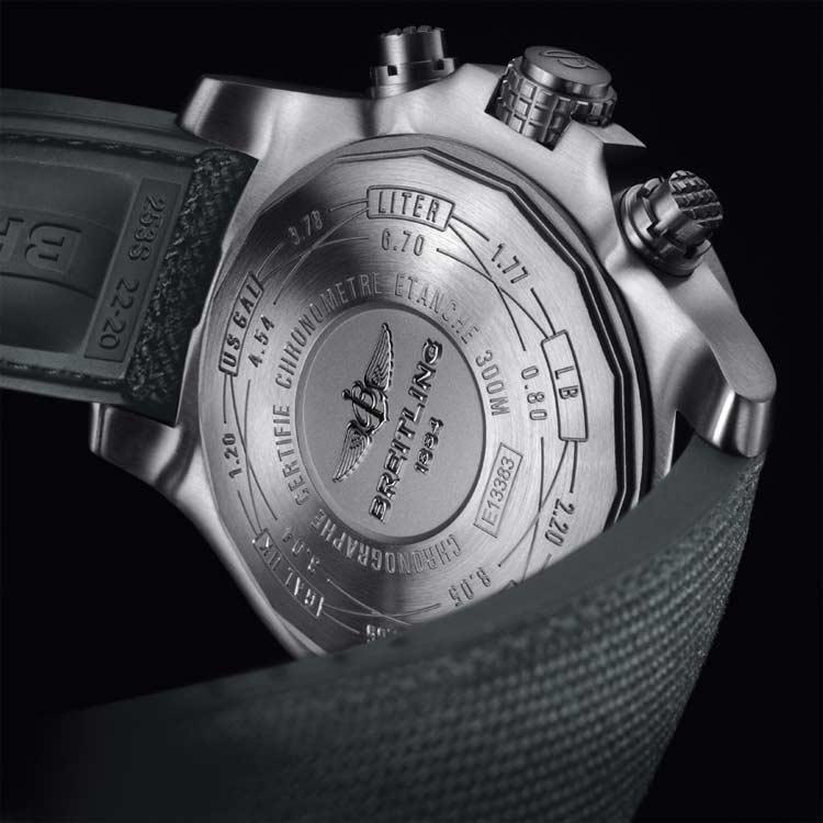Breitling-Avenger-Bandit-watch-back
