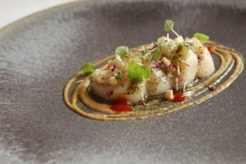 raw-orkney-scallops-soy-bean-purei%c2%81e-confit-ginger-peanuts7