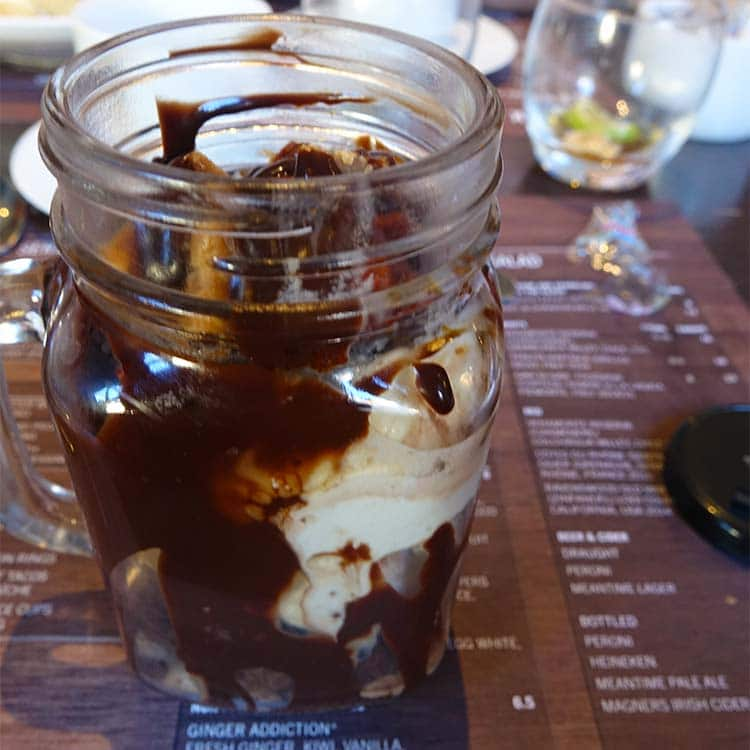 The Signature Mason Jar honeycomb, chocolate fudge brownie, vanilla ...