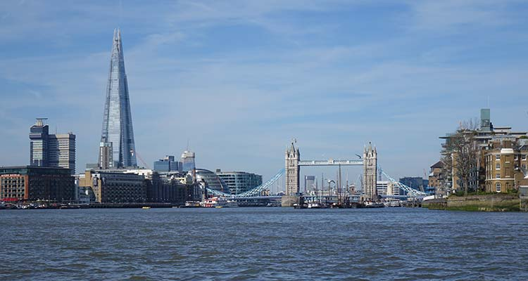 Tower Bridge and The Shard in full view