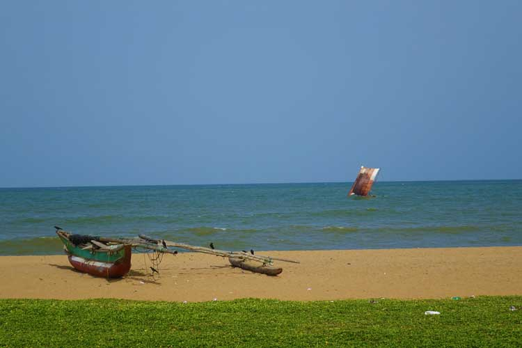 Heritance Negombo Sri Lanka hotel review - beach with sailing boats
