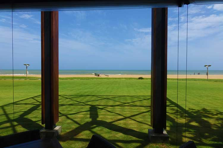 Heritance Negombo Sri Lanka hotel review - outside sitting area restaurant