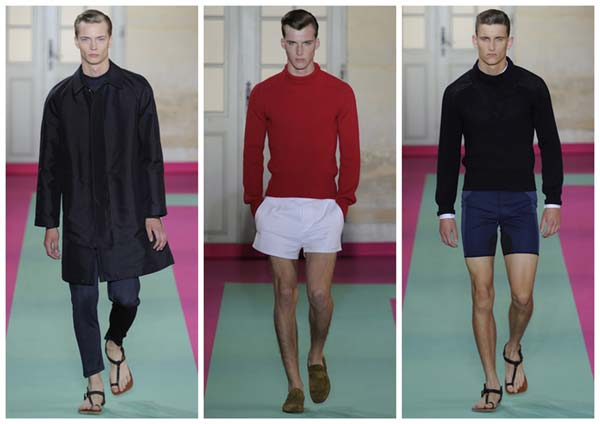 ACNE MEN Spring Summer  2012 catwalk wearing Sandals