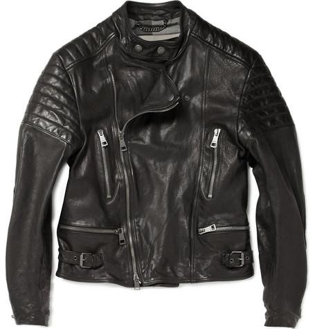 burberry leather jacket,mens black