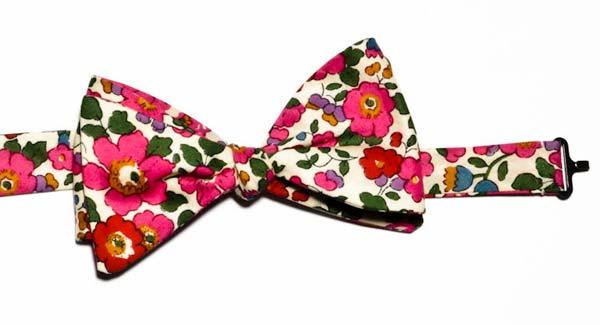 floral-bow-tie,-men,london liberty