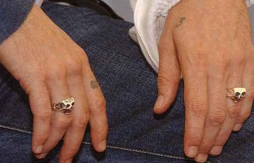 Johnny Depp Skull Rings on both hands