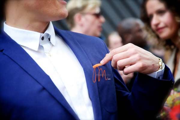 London Collections Men - Oliver Cheshire blue suit