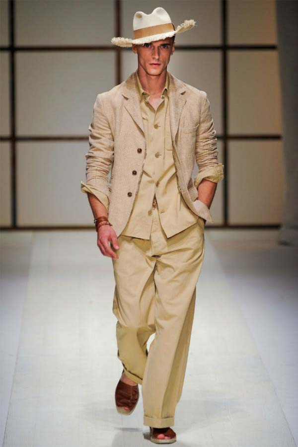 Men's linen suit - spring summer 2012 - Salvatore Ferragamo