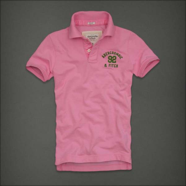 pink polo shirt Abercrombie & Fitch - hot selling item