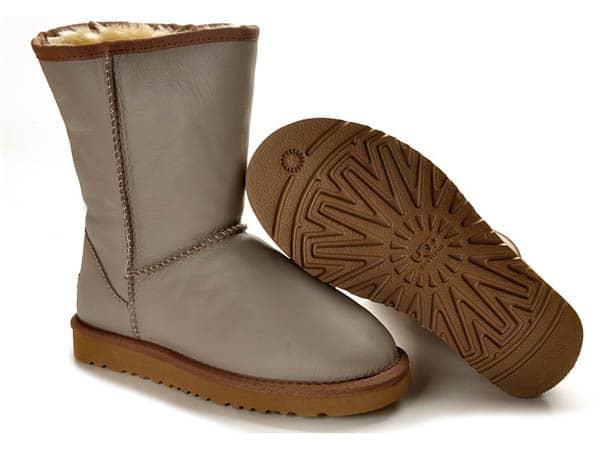 ugg mens australia classic short bomber boots - grey colour