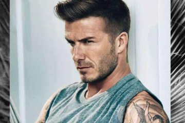 David Beckham - showing his Tattoos for Elle magazine uk