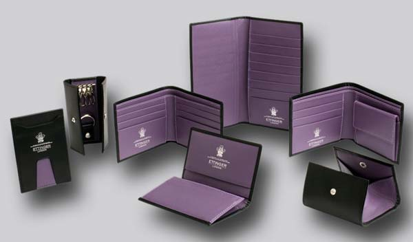 ettinger london - leather accessories purple collection