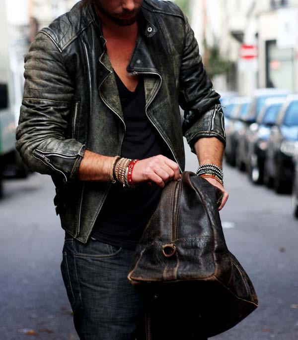 mens-leather, biker jacket