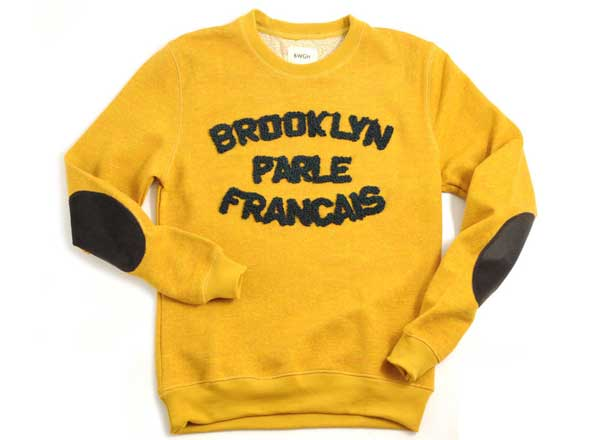 brooklyn we go hard parle francais sweat moutarde
