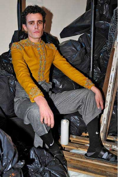 Meadham Kirchoff - London Collections men - Mustard Suit