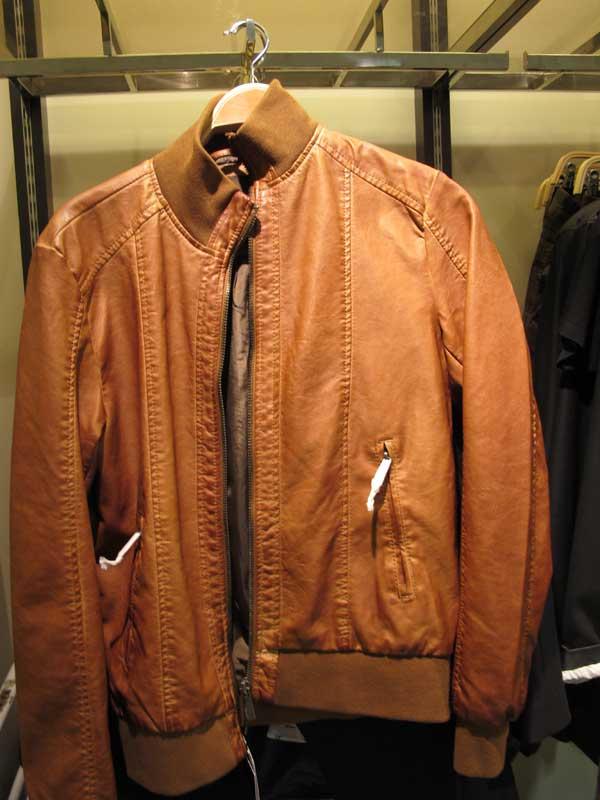 mens brown leather jacket zara. Black Bedroom Furniture Sets. Home Design Ideas