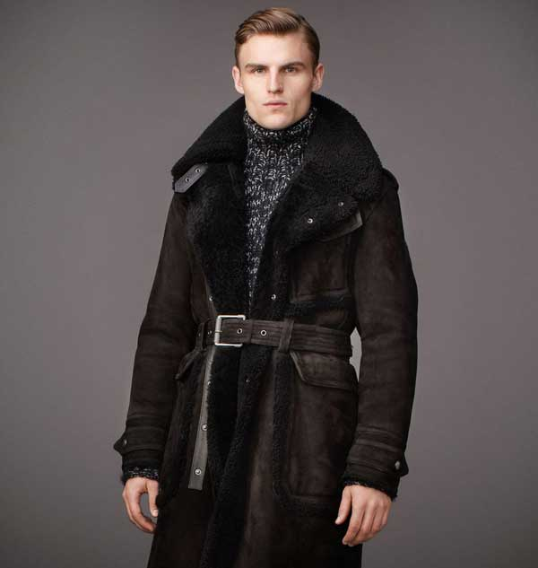 Belstaff fur coat for men