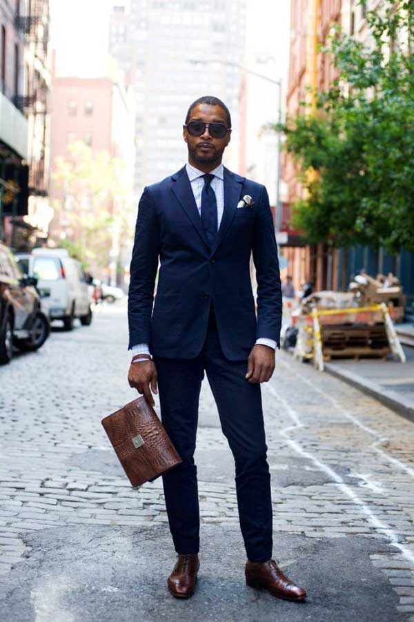 Blue Suit For Interview
