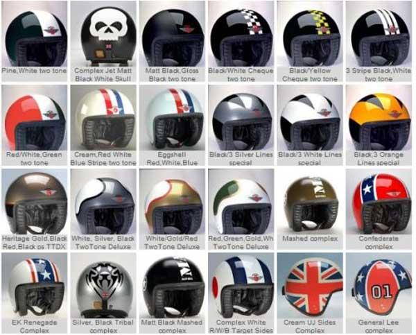 Davida Helmets, 1960's motorbike helmets