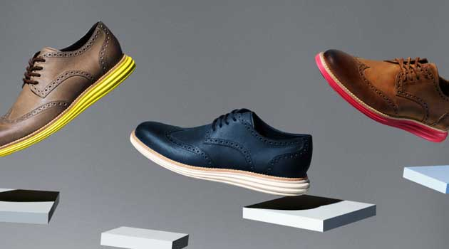 Cole Haan - Bespoke usa brown blue brogues for men