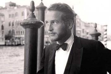 Paul-Newman Wearing a Tuxedo