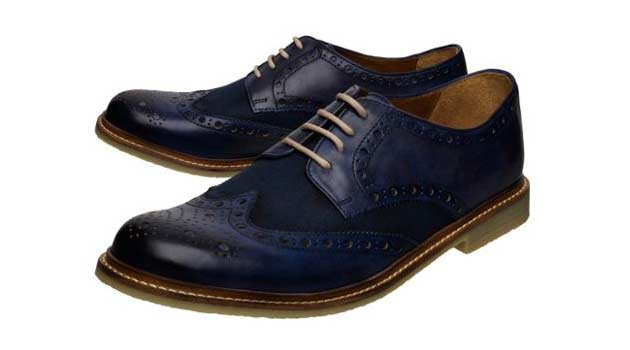 Blue Brogue shoe