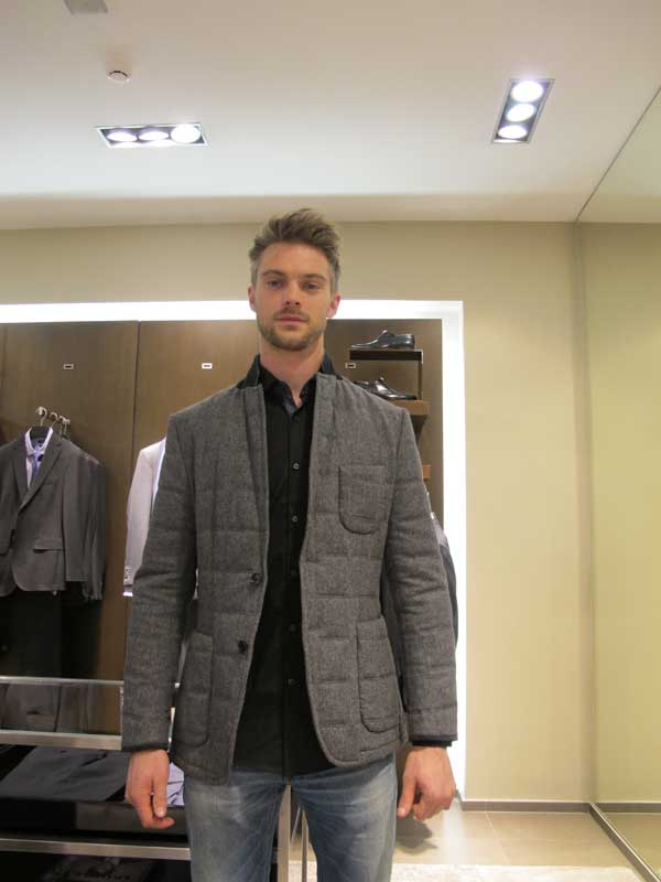 Leon Camier - Super Biker trying on a Super Blazer by Hugo Boss