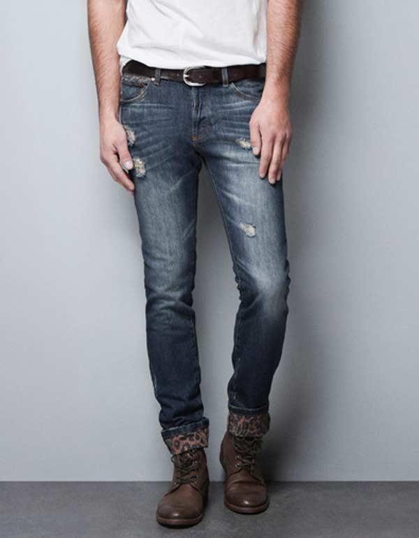 printed vintage style jeans