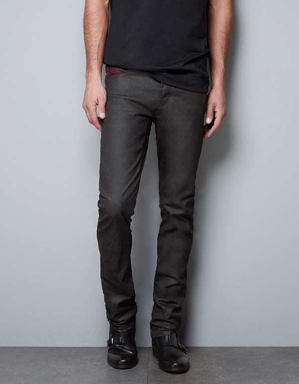 Zara Waxed Jeans for men
