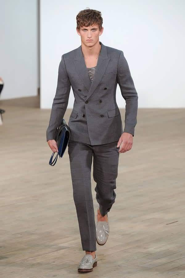 TOPMAN, grey fitted suit 2013