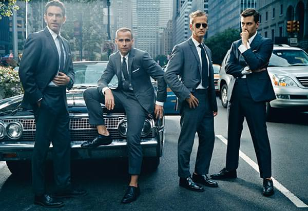Thom Browne, designs wearing suits for 2013