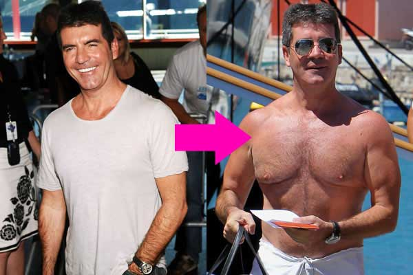 Simon Cowell and his man's boobs