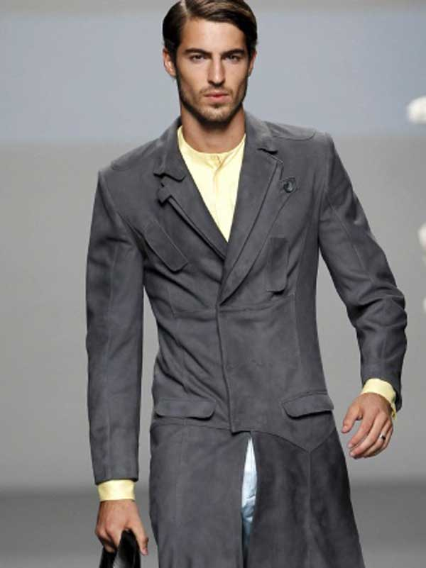 Ion Fiz - grey overcoat for men