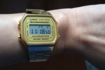 casio lcd watch retro wrist