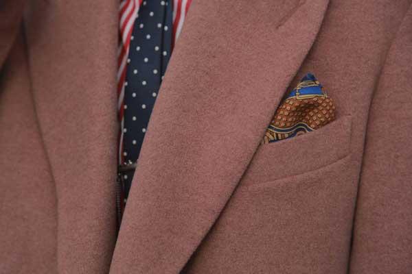 Dusty pink blazer for men 2013