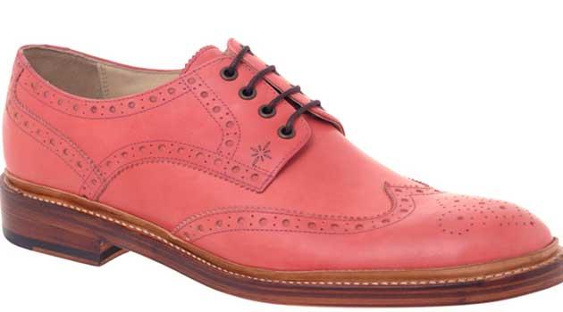 pink brogues for men 2013 weddings