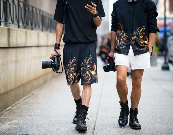 Shorts for men - floral fire summer 2013