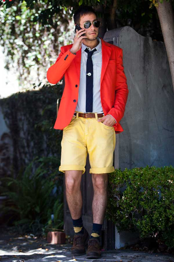 ZARA red jacket and shorts for men 2013