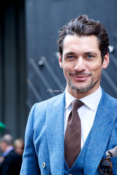 David Gandy - Wearing a three piece suit