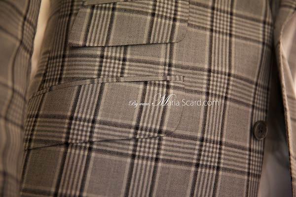 Marks & Spencer  Classic Beige Blazer - Checkered pattern