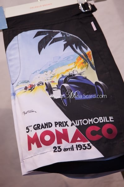 Orlebar Brown - Monaco Collection Shorts with Vintage car print