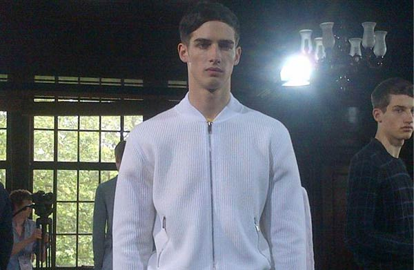 Pringle of Scotland - White Bombers - Spring Summer 2014 collection
