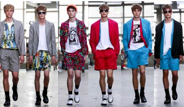 Cuffed shorts for men
