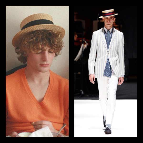 Boater Hats for men beige