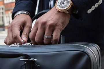 Watch and a man bag