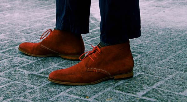 Van Lier Desert Boots Burnt Orange