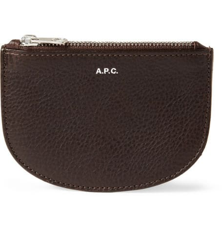 A.P.C Full grain leather zipped wallet