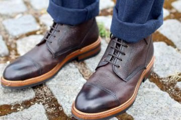 Brogue brown boot for men