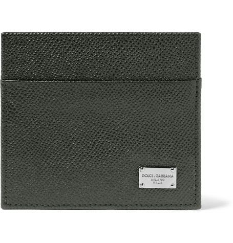Dolce & Gabbana Cross Grain Leather Card Holder