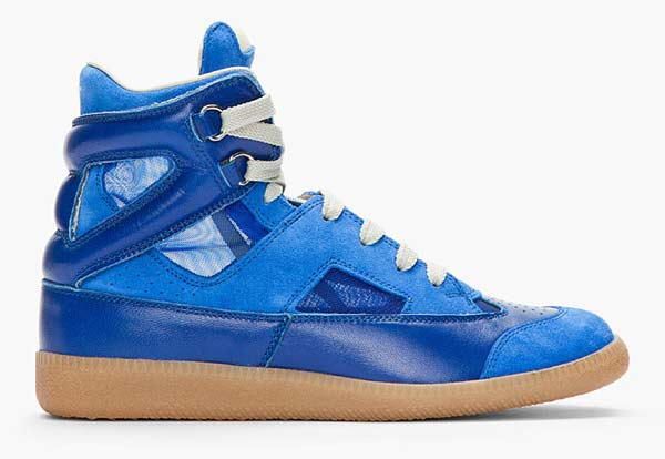 Maison Martin Margiela - Suede Leather Mesh Insert Sneakers